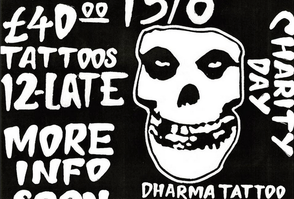 Here 39 s your chance to get a misfits tattoo in aid of for 13th floor tattoo shop